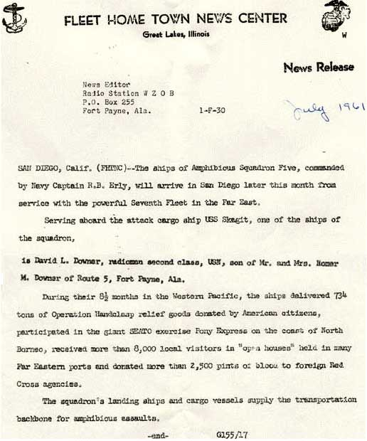 News Release July 1961